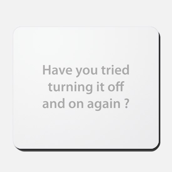 Off and On Mousepad
