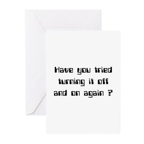 Off and On Greeting Cards (Pk of 20)