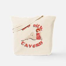 Red Silk Tote Bag