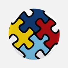 "Autism Awareness Puzzle 3.5"" Button"