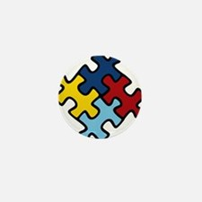 Autism Awareness Puzzle Mini Button (100 pack)