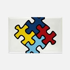 Autism Awareness Puzzle Rectangle Magnet