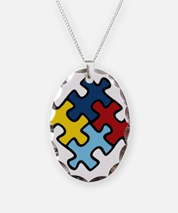 Autism Awareness Puzzle Necklace
