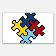 Autism Awareness Puzzle Sticker (Rectangle 10 pk)