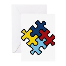 Autism Awareness Puzzle Greeting Cards (Pk of 10)