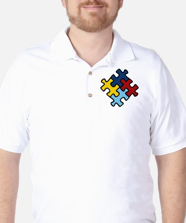Autism Awareness Puzzle Golf Shirt