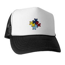 Autism Awareness Puzzle Trucker Hat
