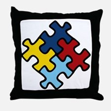 Autism Awareness Puzzle Throw Pillow