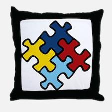 Autism Awareness Puzzle Throw Pillow