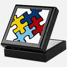 Autism Awareness Puzzle Keepsake Box