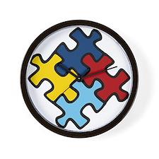 Autism Awareness Puzzle Wall Clock