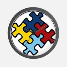 Autism Awareness Puzzle Wall Clock