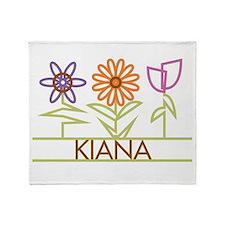Kiana with cute flowers Throw Blanket