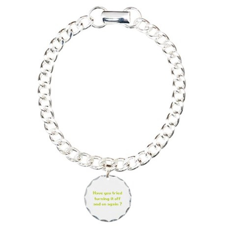 Off and On Charm Bracelet, One Charm