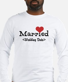Married (Add Your Wedding Date) Long Sleeve T-Shir