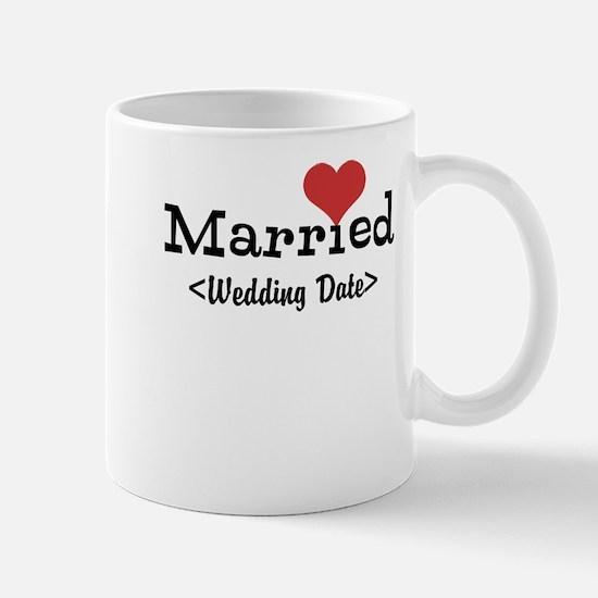 Married (Add Your Wedding Date) Mug