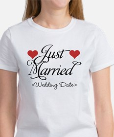 Just Marrried (Add Wedding Date) Tee