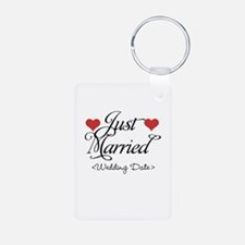 Just Marrried (Add Wedding Date) Keychains