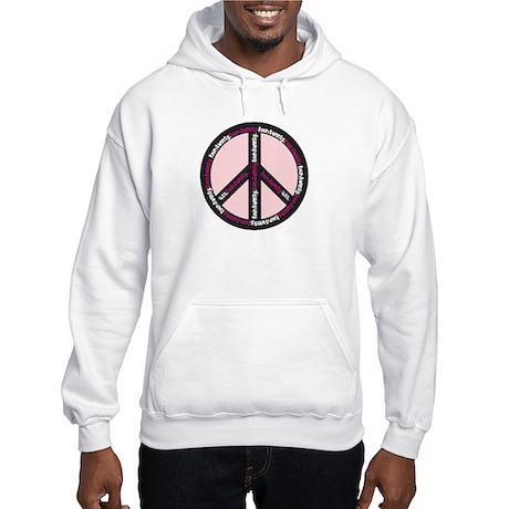 Peace. Smokin' Hot Pink! Hooded Sweatshirt