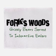 Emmett Forks Woods Throw Blanket
