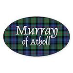 Tartan - Murray of Atholl Sticker (Oval 10 pk)