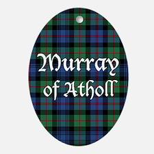 Tartan - Murray of Atholl Ornament (Oval)