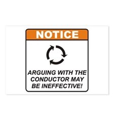 Conductor / Argue Postcards (Package of 8)