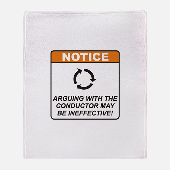 Conductor / Argue Throw Blanket
