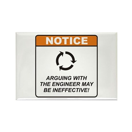 Engineer / Argue Rectangle Magnet (100 pack)
