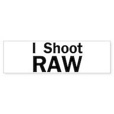i shoot RAW Bumper Sticker