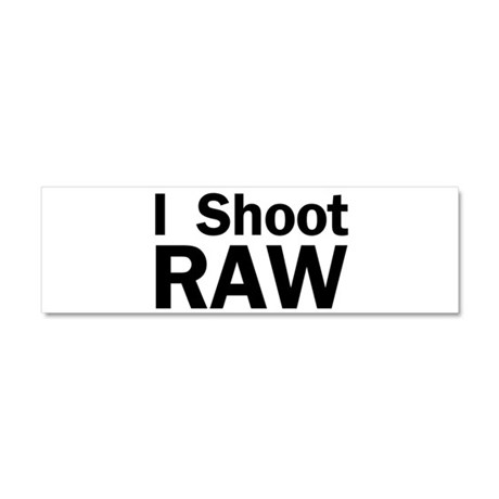 i shoot RAW Car Magnet 10 x 3