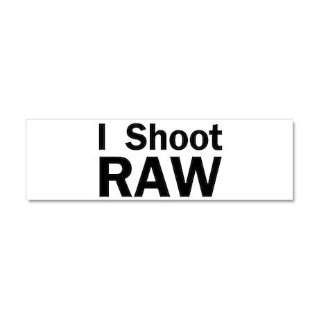 i shoot RAW Car Magnet 10 x 3