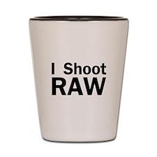 i shoot RAW Shot Glass