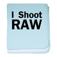 i shoot RAW baby blanket