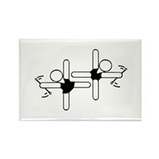 Baton Twirler Buddies Rectangle Magnet