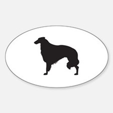 Borzoi Sticker (Oval)