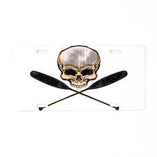 SKULL OARS CROSSBONES Aluminum License Plate