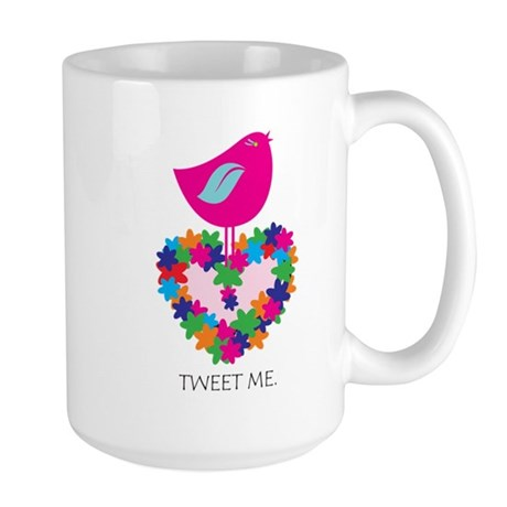 Peace. Smokin' Hot Pink! Large Mug