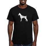 Doberman pinscher Fitted T-shirts (Dark)