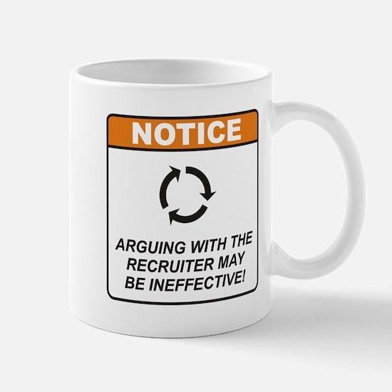 Recruiter / Argue Mug