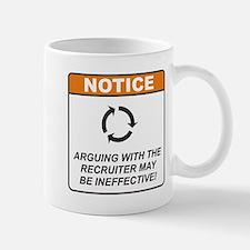 Recruiter / Argue Small Small Mug