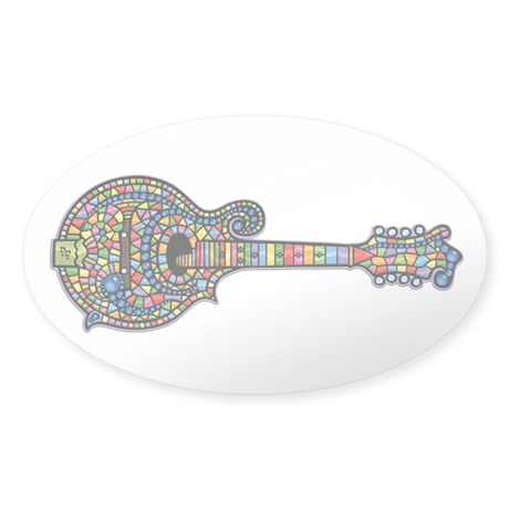 Mosaic Mandolin Sticker (Oval)