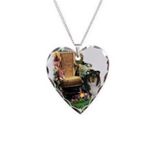 Tri Collie Art Necklace