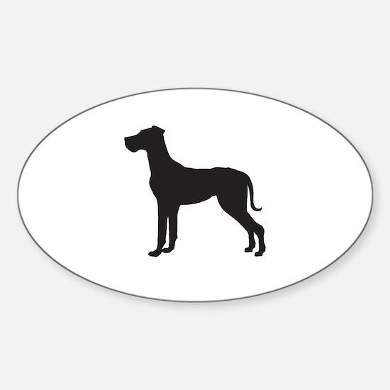 Great Dane Sticker (Oval)