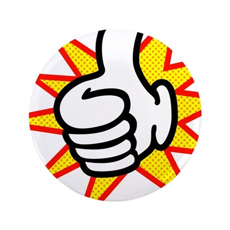 """Thumbs Up 3.5"""" Button"""