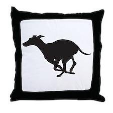 Grey Hound Throw Pillow
