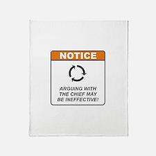 Chief / Argue Throw Blanket