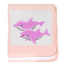 I Like Dolphin (4) baby blanket