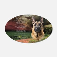 """Why God Made Dogs"" GSD 22x14 Oval Wall Peel"