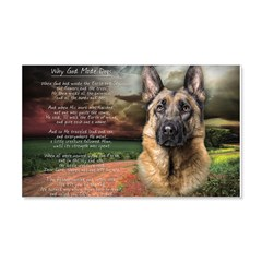 """""""Why God Made Dogs"""" GSD 22x14 Wall Peel"""